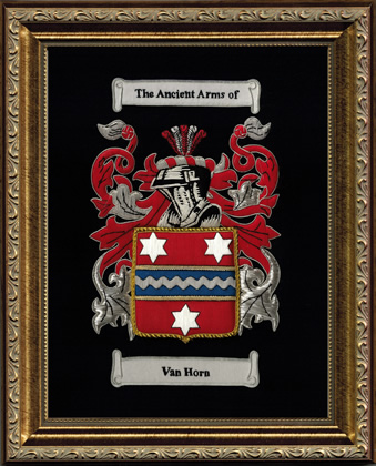 Embroidered Coat of Arms Framed - Gold
