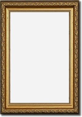 Gold Antiqued Frame - Letter Size