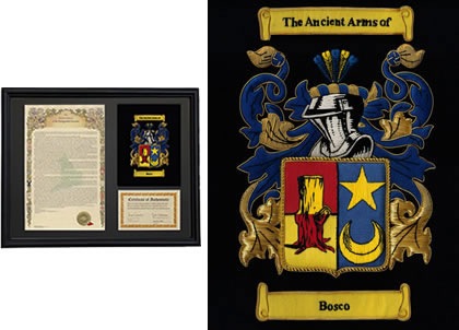 Embroidered COA and History-Black