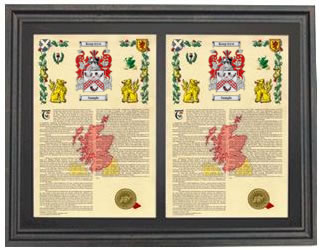 Double Armorial History Framed- Brown