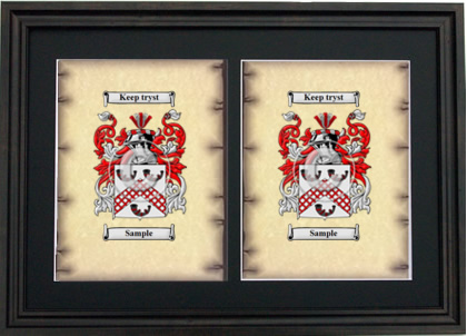 Double Coat of Arms Framed - Black